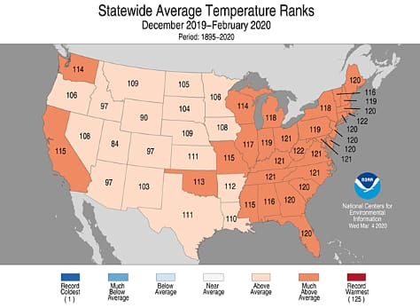 Statewide Temp Ranks