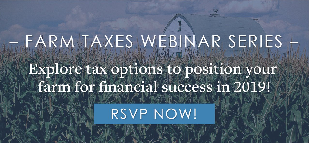 Free Webinar Series: Farm Taxes