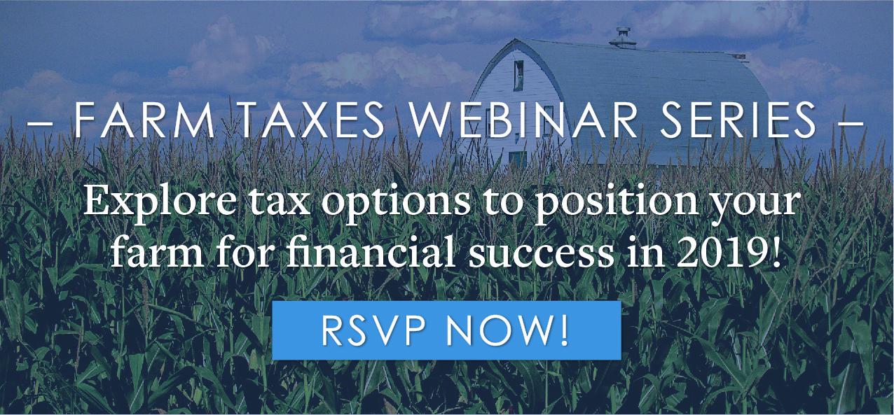 Free Webinar Series: Farm Taxes